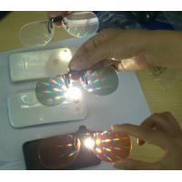 Wholesale Rainbow Effect 3D Fireworks Glasses 0.06mm PVC Or PET Lenses from china suppliers