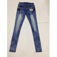 Wholesale Western Fashion White Loose Fit Tapered Leg Jeans , Low Rise Skinny Jeans For Women from china suppliers