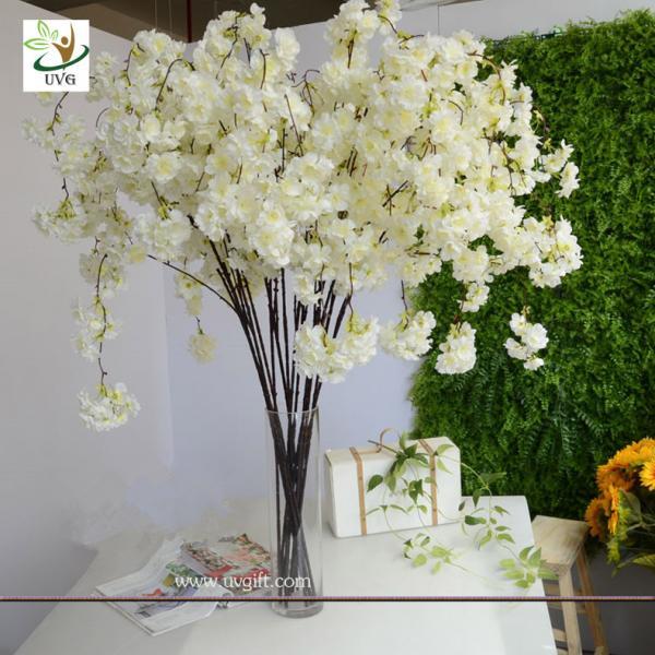 Uvg chr129 white cherry blossom branches faux silk flowers for uvg chr129 white cherry blossom branches faux silk flowers for wedding home decoration of ec91098814 junglespirit Gallery