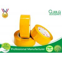 Quality Yellowish Colored Duct Tape Waterproof Masking Tape For Carton Sealing Hot Melt Adhesive for sale