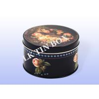 Cookie Biscuit Empty Tin Box For Christmas Holiday , Round Storage Tins