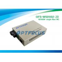 1310 & 1550 nm Single Fiber SM SC 10 / 100M Fiber Media Converter 120KM