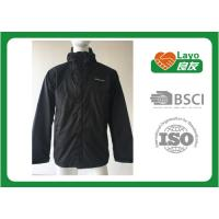 Quality Breathable Outdoor Softshell Jacket Blue Color OEM / ODM Black Softshell Jacket for sale