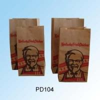Kraft Fast Food Paper Bags / Take Away Paper Bags For McDonald'S KFC