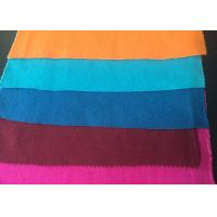Quality Plain Style Merino Wool Fabric Melton Cloth Fabric For Suit , Orange Blue Red for sale