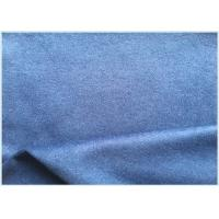 Quality 26% Wool Stretch Fabric For Suit Coat , Blue Soft Wool FabricIn Stock for sale