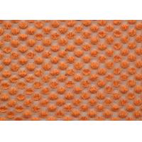 Quality Nylon Spandex Cotton Stretch Lace Fabric Orange For Curtains SGS CY-LW0667 for sale