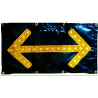 High Visibility Traffic Control Arrow Boards Chevron LED Flashing Arrow Sign