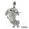 Wholesale Black Sapphire 925 Silver Gemstone Jewelry , Rhodolit Gemstone Jewelry Pendant from china suppliers