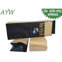 Brown Paper Coffee Bean Packaging Bag Aluminum Foil With One Way Valve