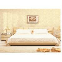 Quality Bedroom Background Home Decoration Wallpaper , Beige / Yellow / Brick Red 3D Effect Wallpaper for sale