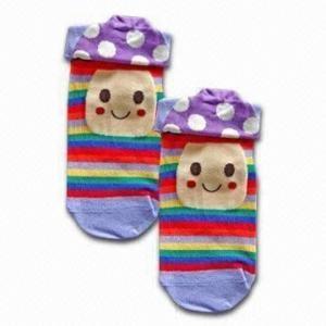 Custom desig, color 3-D  Jacquard Children's Cotton Socks