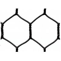 """Buy Garden Fence Black Vinyl Coated Hexagonal Wire Netting With 20 Gauge , 1"""" woven mesh at wholesale prices"""