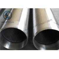 Quality Johnson Filter Water Well Pipe Low Energy Consumption , Welded Rings End Connection for sale