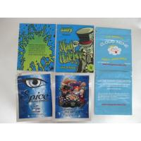 Customized PET VMPET PE Herbal Incense Packaging , Non-leakage Zip Plastic Bags
