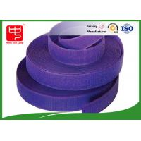 Wholesale Purple strong velcro adhesive tape hook and loop tape roll for garments from china suppliers