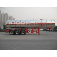 Gas Tanker Semi Trailer 39500L Capacity For Transport Propylene Oxide Liquiefied Property