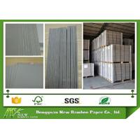 Quality 1200gsm / 2.04mm folding resistance Gray Paperboard / one layer Grey Back Board for sale