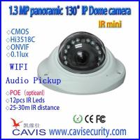 130° WIFI,Audio,Pickup panoramic Vandalproof and waterproof Fisheye ip camera HB-IP130NR
