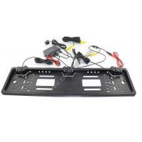 European License Plate Parking Sensor 3 in 1 Car Rearview Camera with two probes and one camera
