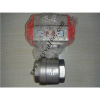 CE approved 2pc screwed stainless steel ball valve with pneumatic actuator
