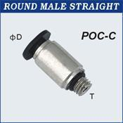 Compact One Touch Tube Fittings Round Male Straight