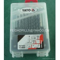 19pcs hss twist drill bit in plastic box