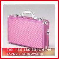 Quality Pink ABS Aluminum Briefcase With Compartment for sale