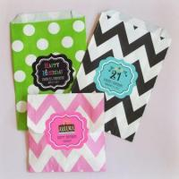 Wholesale Personalized Birthday Chevron & Dots Goodie Bags (set of 12) from china suppliers