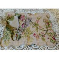 Large Roses Quilted Placemat and Matching Napkin
