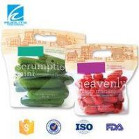 Quality Transprent Plastic Stand Up Zipper Organic Food Packaging for sale