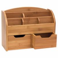 Quality 100% Natural Bamboo Desk Organizer with 3 Drawers for sale