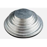 Quality round silver thick corrugated cake drums for sale