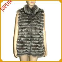 Quality Horizontal Fox fur vest with turnover collar for sale