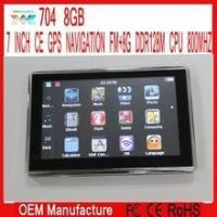 Quality 7 inch Gps navigation navigator Windows ce 6.0 FM ROM 8GB DDR128M for sale