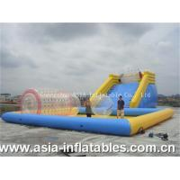 Quality Inflatable Zorb Ramp and Water Pool Combo for sale