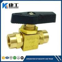Straight Panel Mount Brass Ball Valve