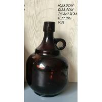 Quality 64 Oz Amber Glass Growler With Handle for sale