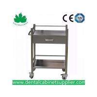 Quality Mobile Dental Cabinet Quality Stainless Steel Medical Trolly Dental Cart SSU-07 for sale