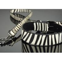 Zebra Print Pony Hair Dog Collar