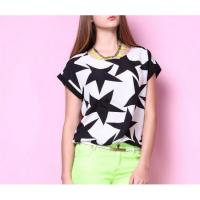 Quality Blouses & T-shirts Star all bat sleeve T-shirt relaxing style J4153T for sale