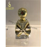 Quality Golden Color Luxurious Decorative Crystal Oil Bottles for sale