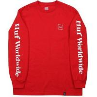 Quality HUF Domestic LS Tee, Red for sale