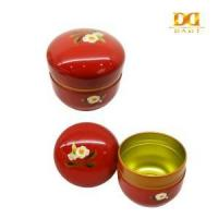 China tin can factory Red Oval Earings Storage Tin Box, Chinese Style Tin Box, Gift Tin Box