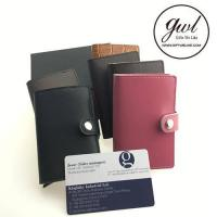 Pop Up Card Holder Leather Money Clip Small Wallet with Card Case for Men