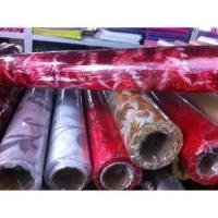 Quality Flower decorative wrapper glittered organza rolls for sale