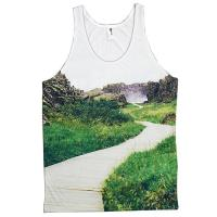 high quality digital printing sublimated custom design finess tank top