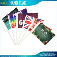 Quality 157gsm coated paper promotion hand waving Stick flags for sale