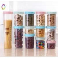 Wholesale various sizes wheat straw storage jar / storage bottle with colorful lid from china suppliers