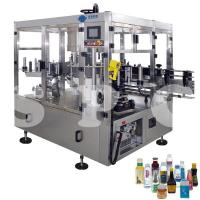 Automatic Self Adhesive Bottle Labeling Machine For Glass Plastic Round Bottles